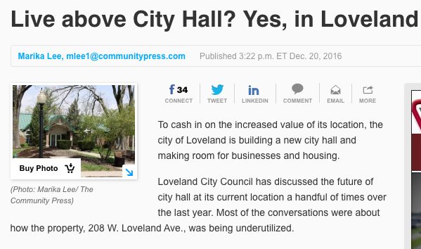 Live above City Hall? Yes, in Loveland (eventually)